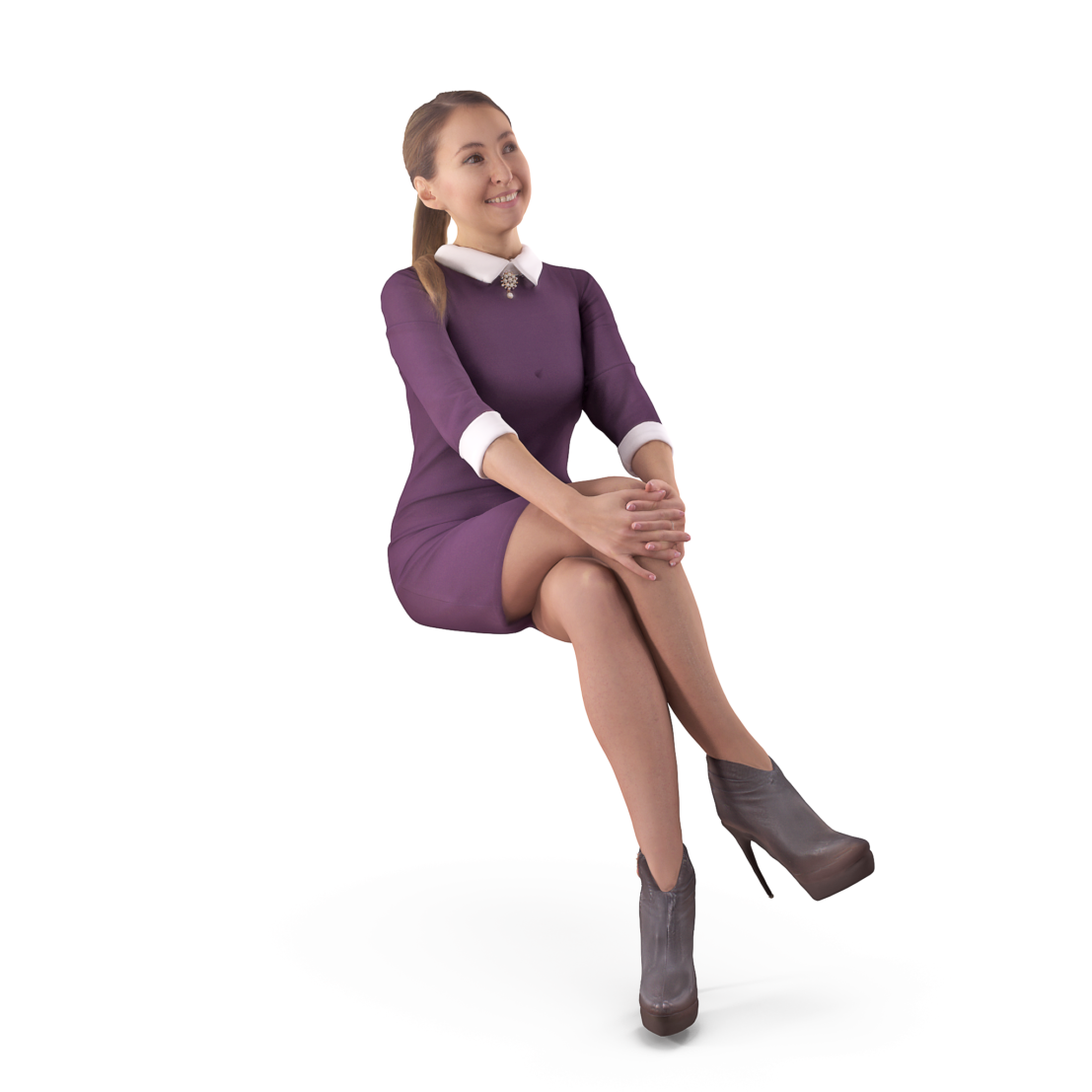 3D model casual woman