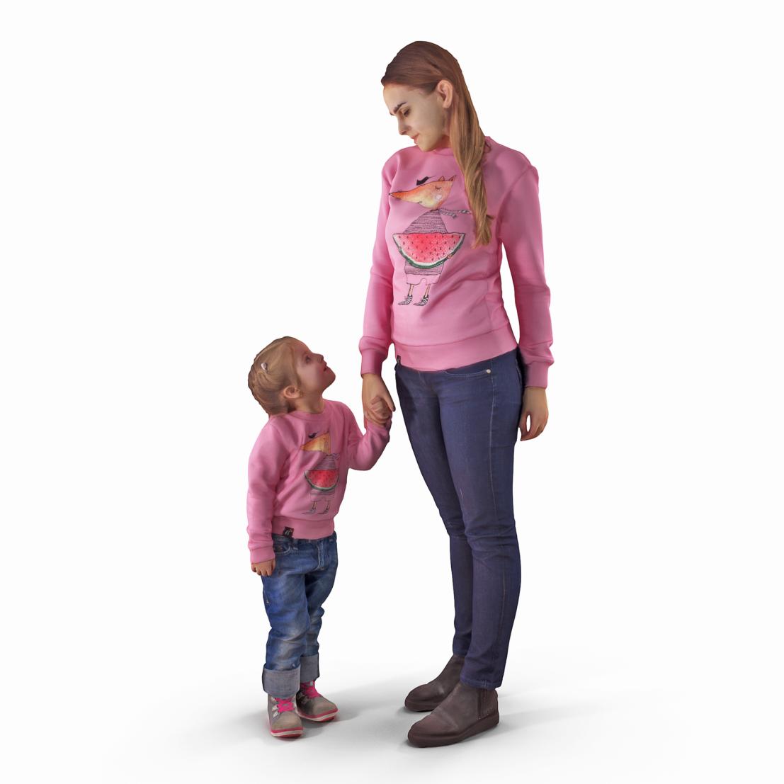 family 3d model