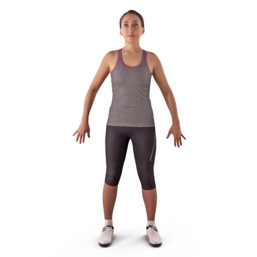 3d model sport woman