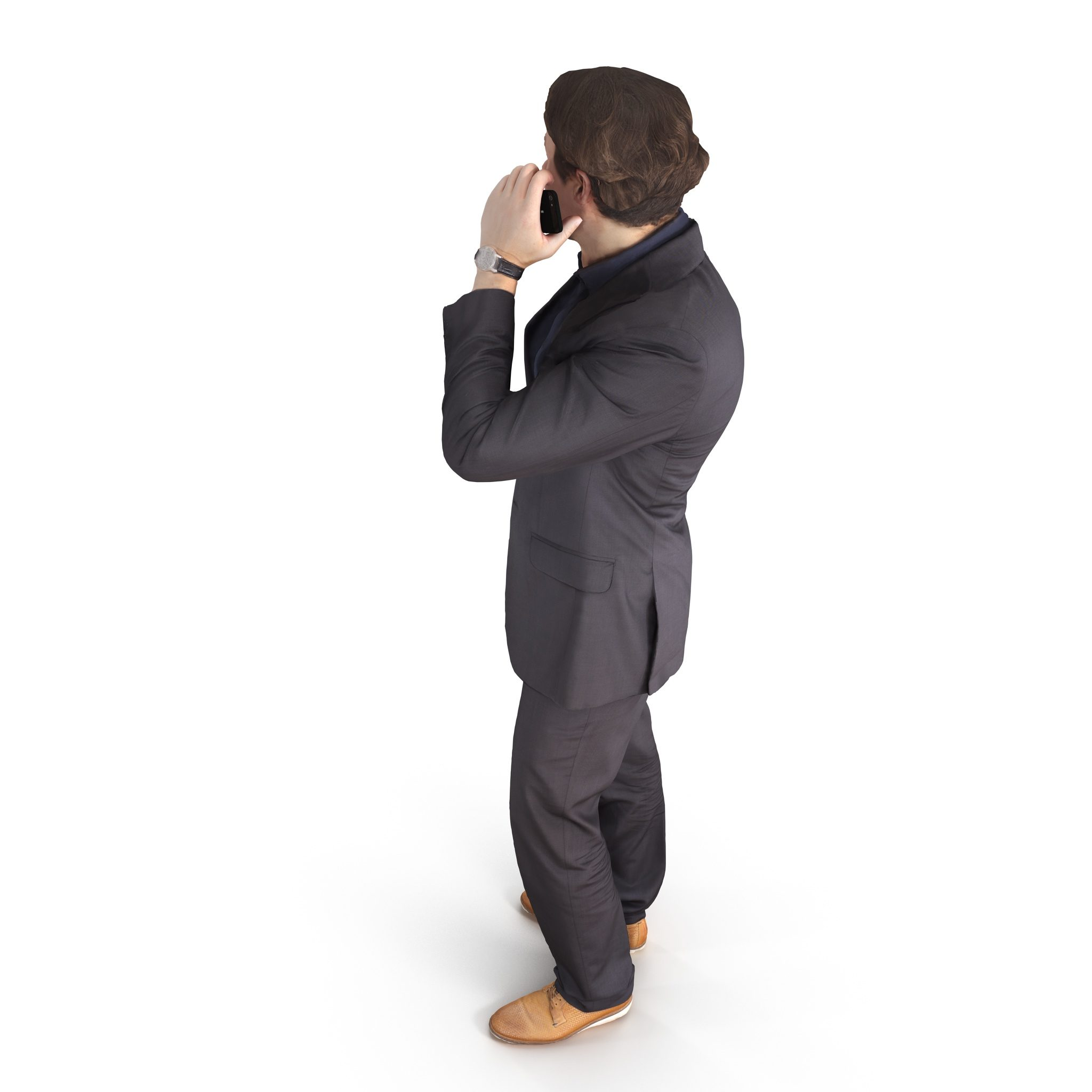 Businessman phone talking