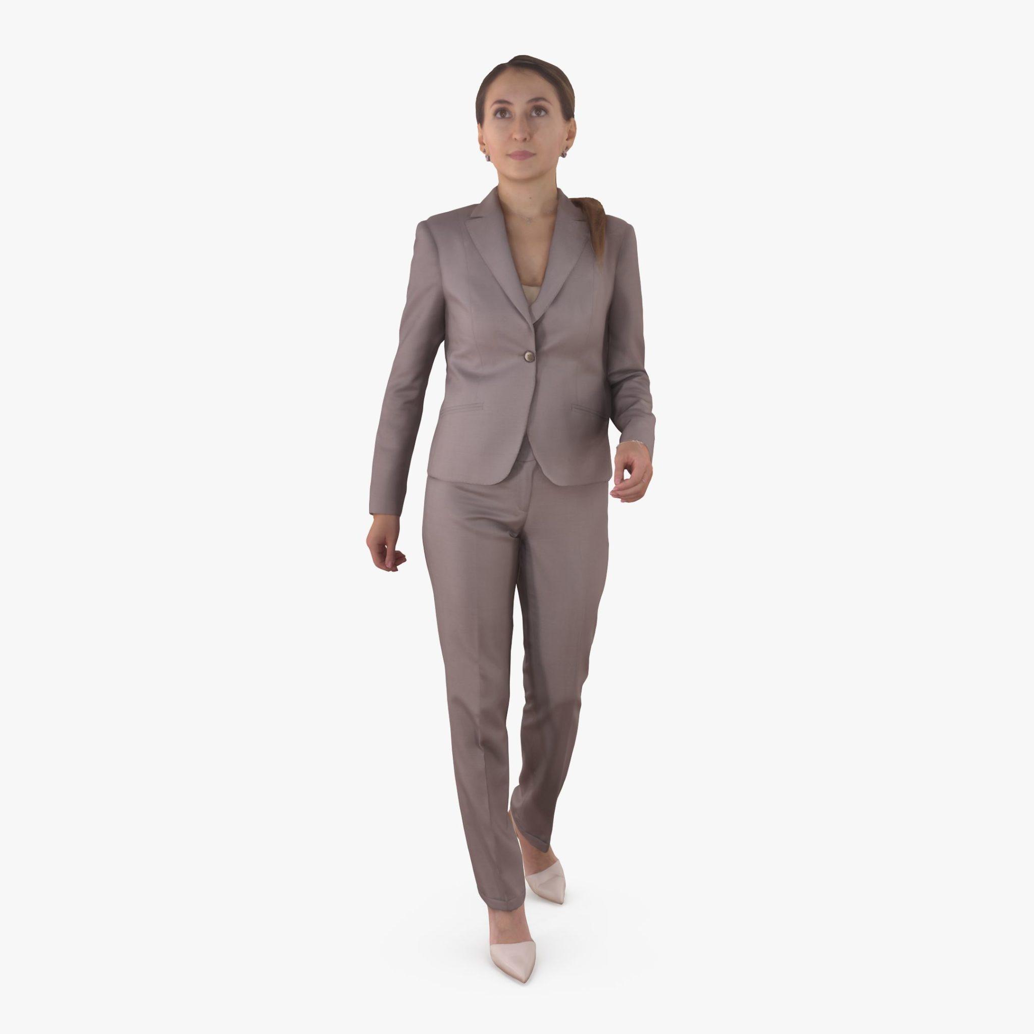 Business Woman Active 3D Model | 3DTree Scanning Studio