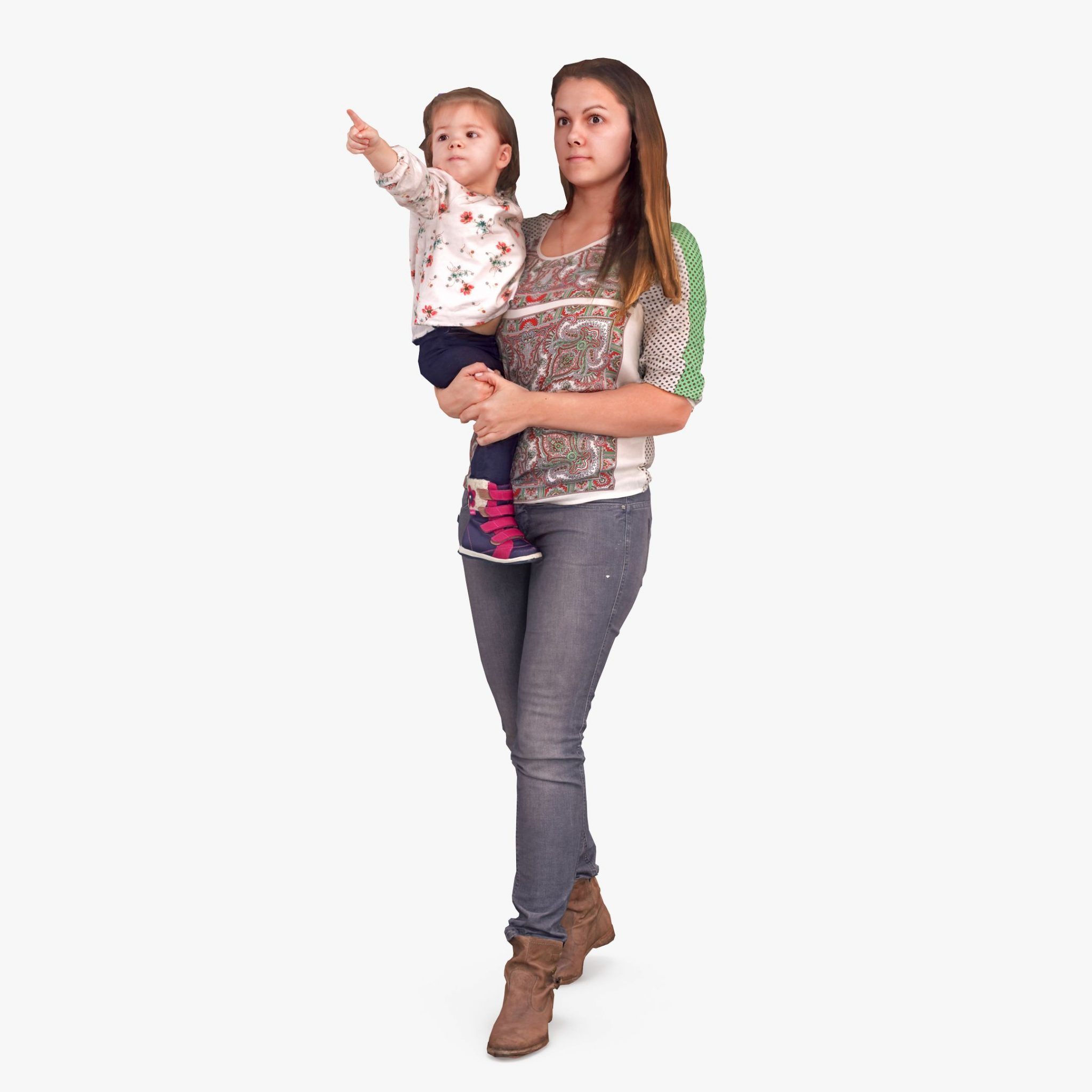 Mother and Baby 3D Model | 3DTree Scanning Studio