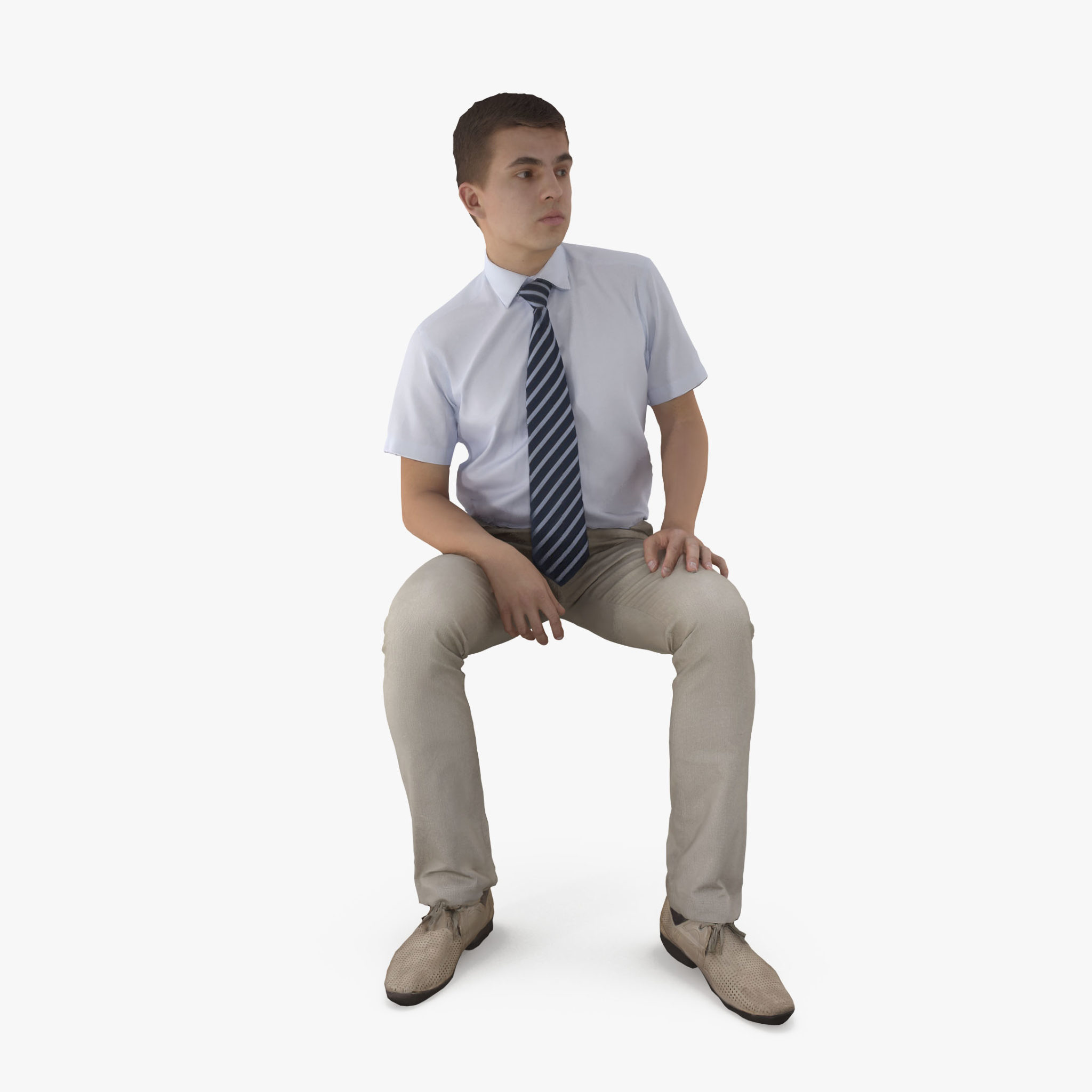 Businessman Waiting 3D Model | 3DTree Scanning Studio