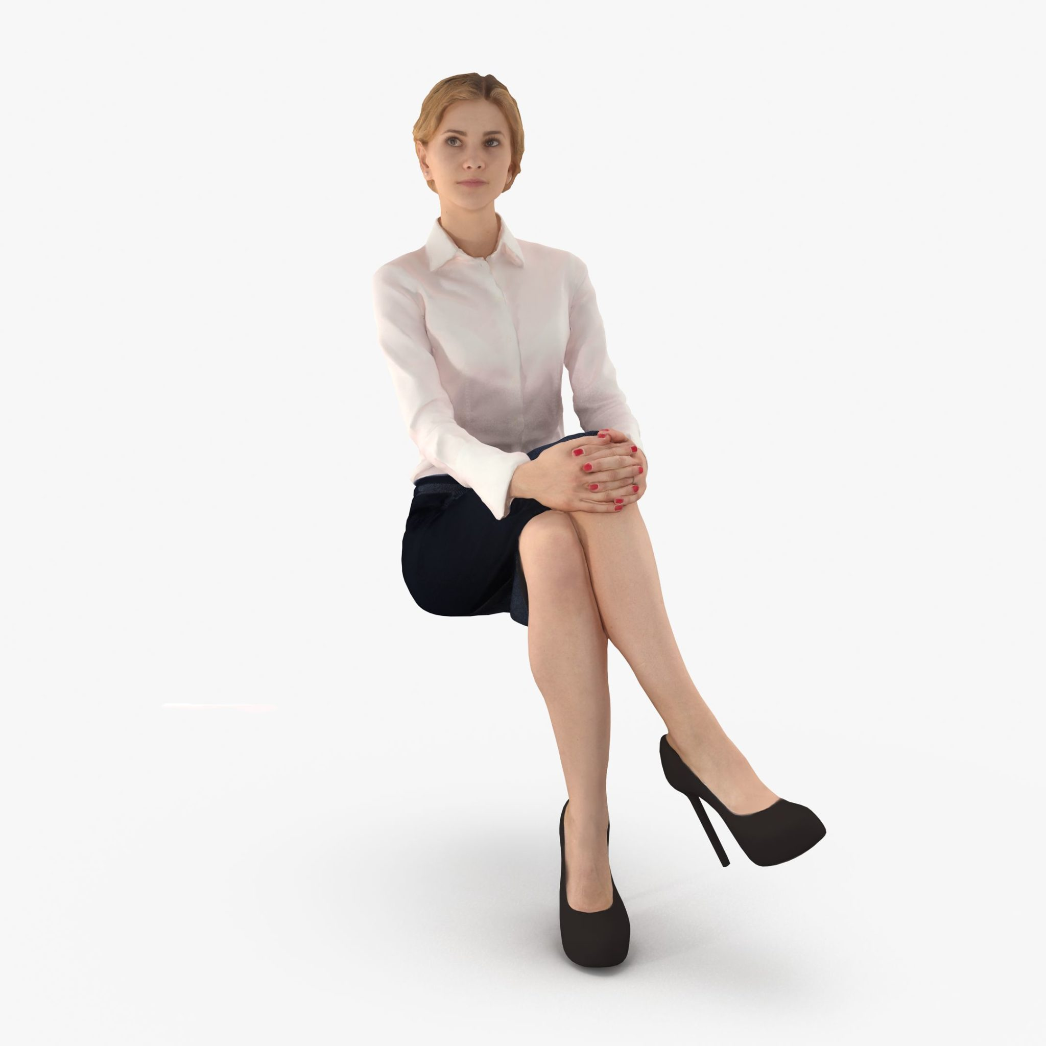 Woman Sitting 3D Model | 3DTree Scanning Studio