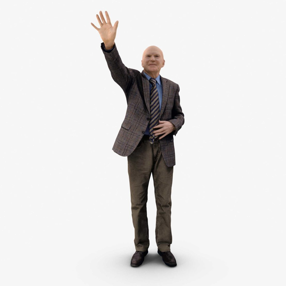 Oldman Greeting 3D Model | 3DTree Scanning Studio