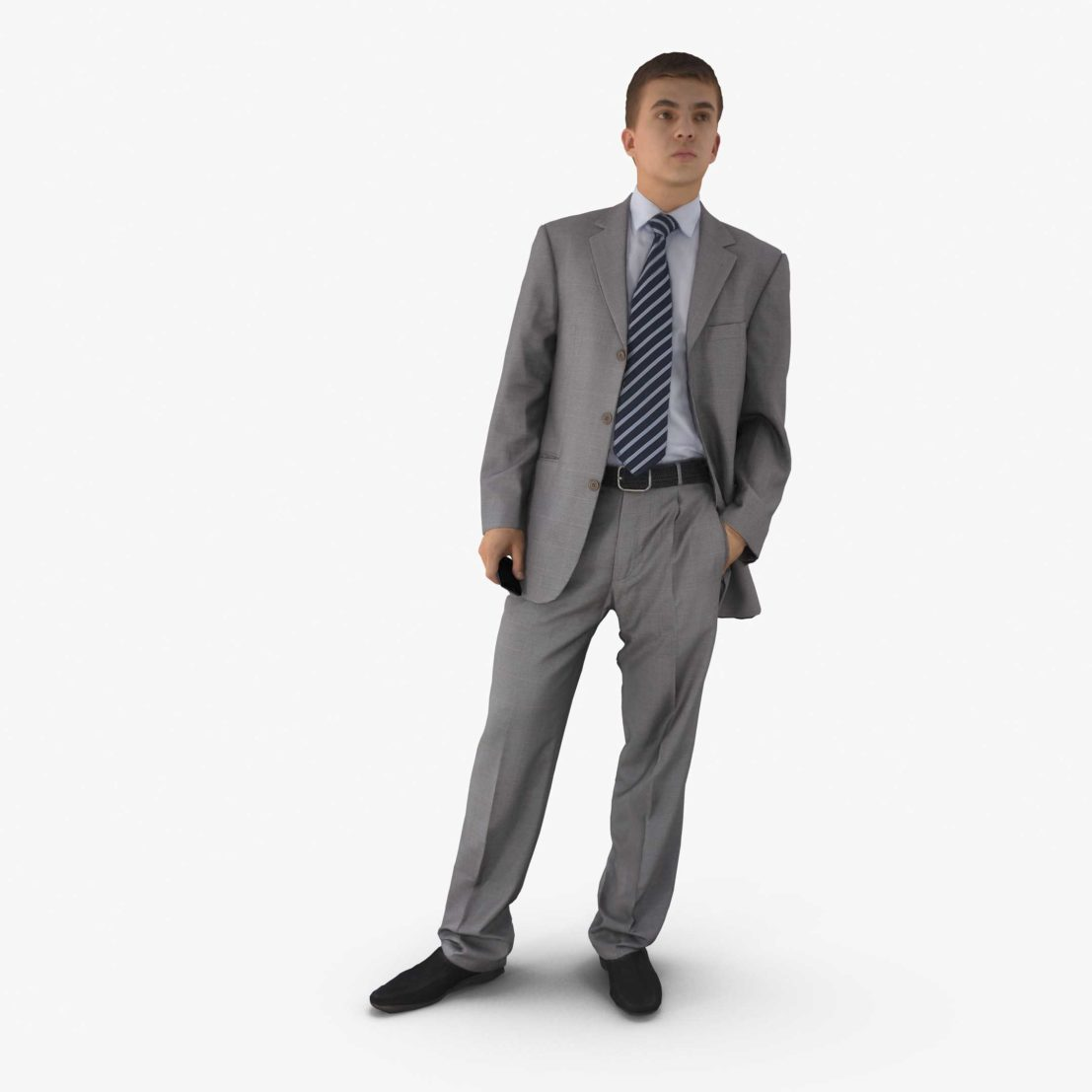 Businessman Watching 3D Model | 3DTree Scanning Studio