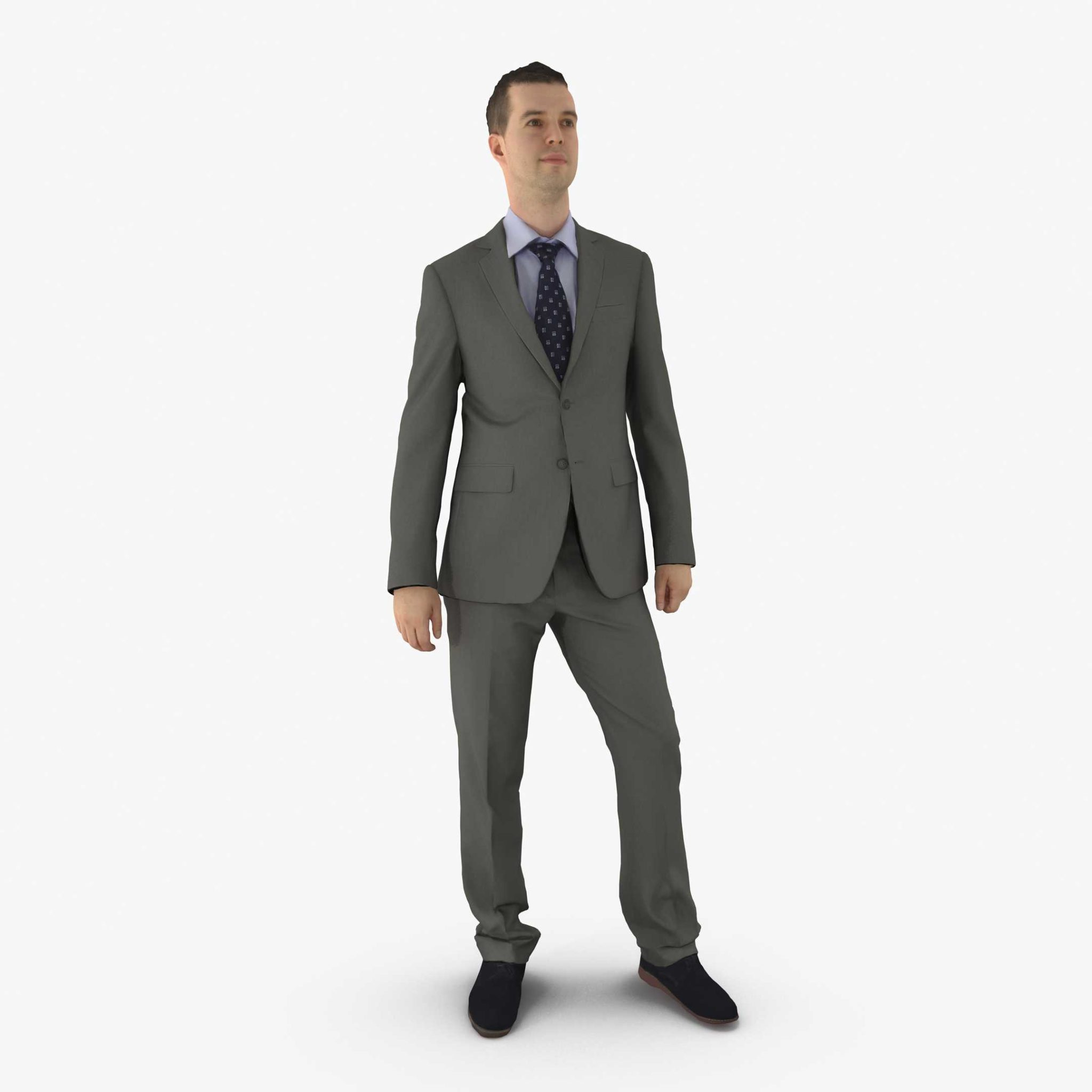Businessman Standing 3D Model | 3DTree Scanning Studio