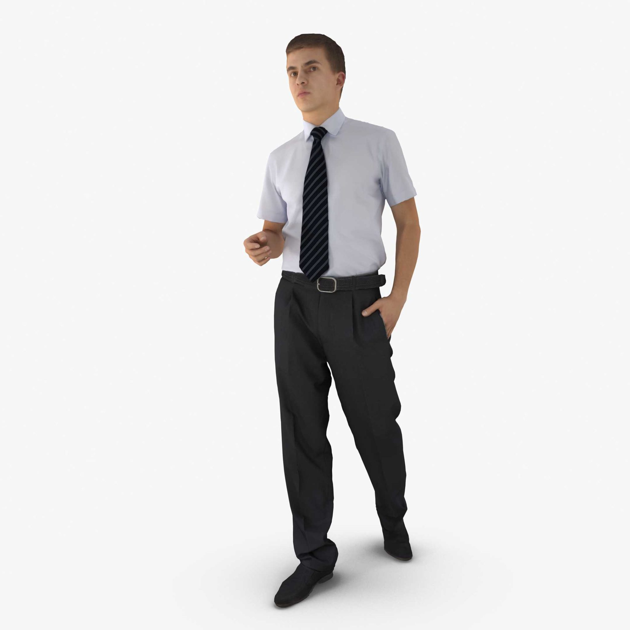 Businessman Walking 3D Model | 3DTree Scanning Studio