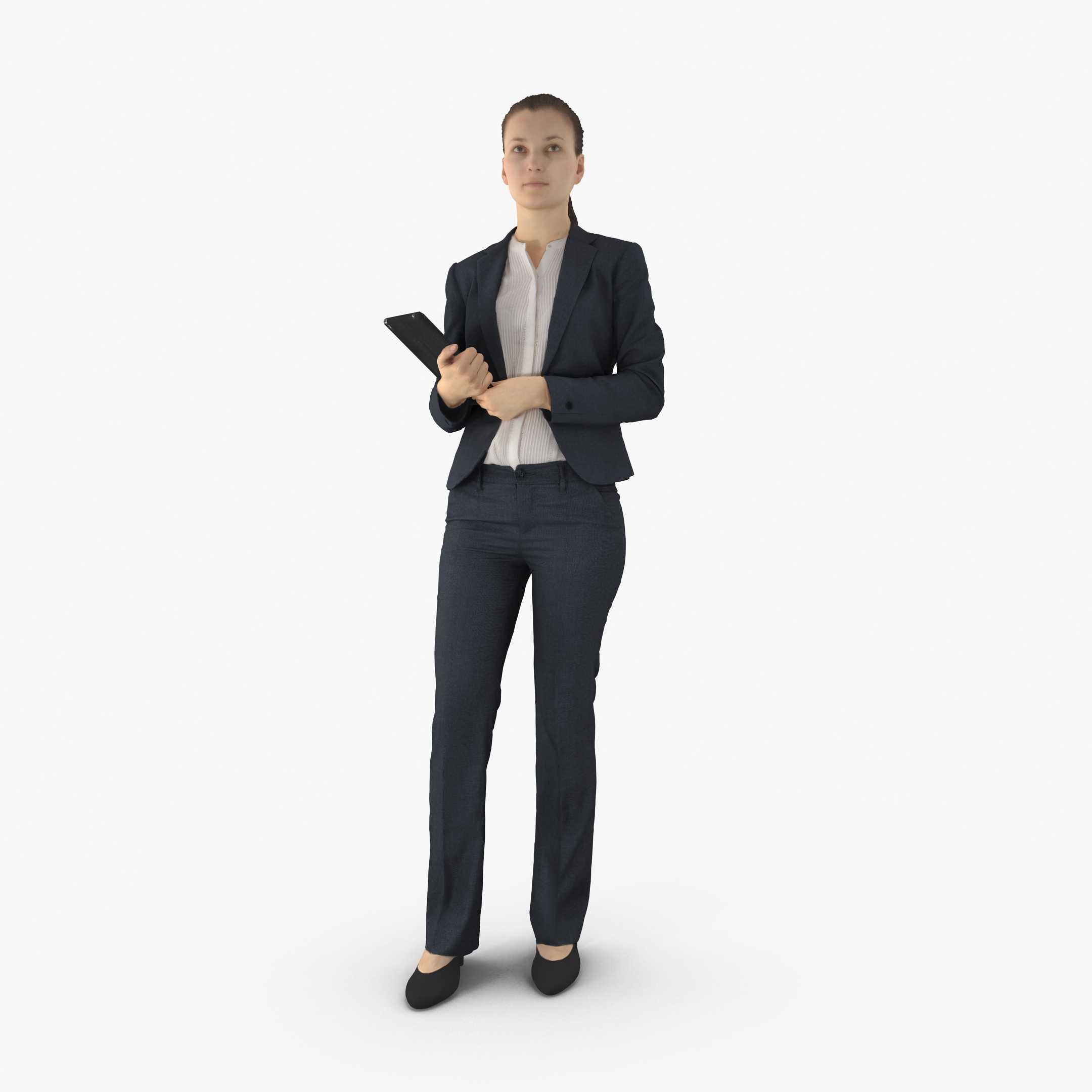 business woman standing 3d model 3dtree scanning studio