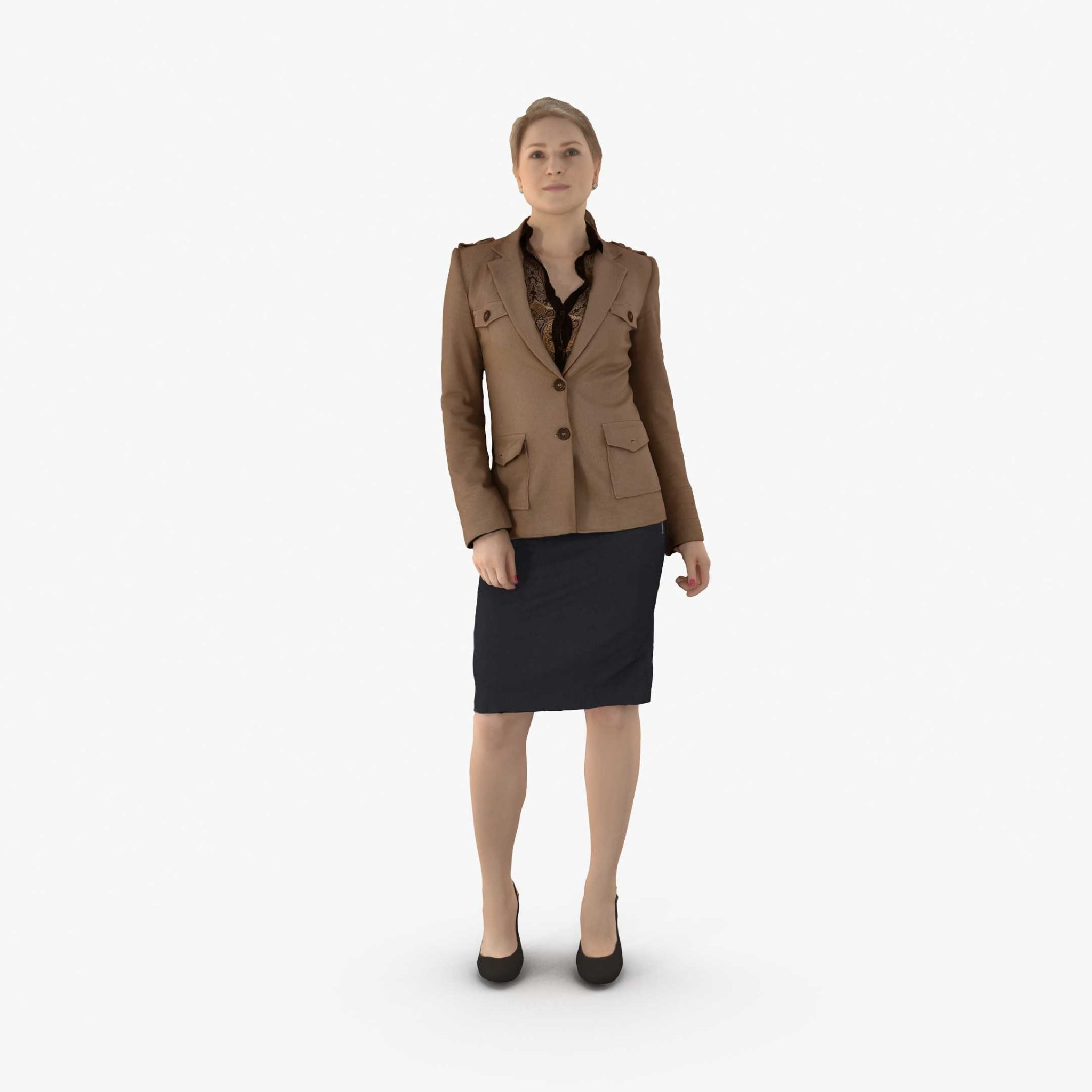 Business Woman Standing 3D Model | 3DTree Scanning Studio