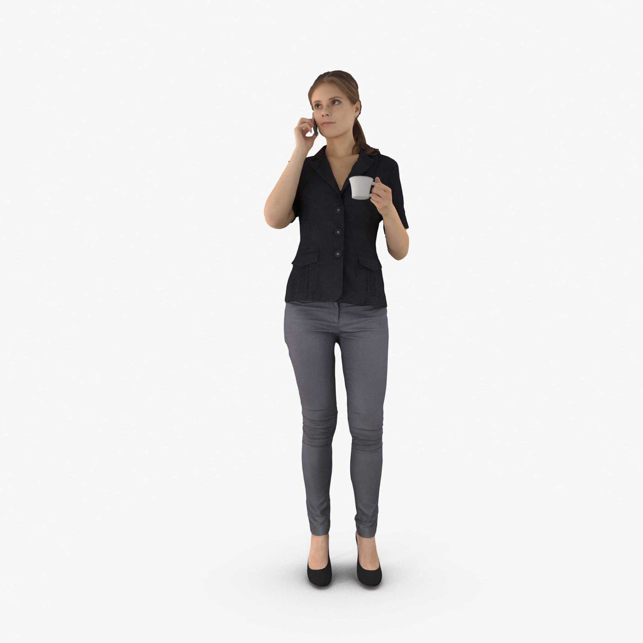 Woman Talking 3D Model | 3DTree Scanning Studio