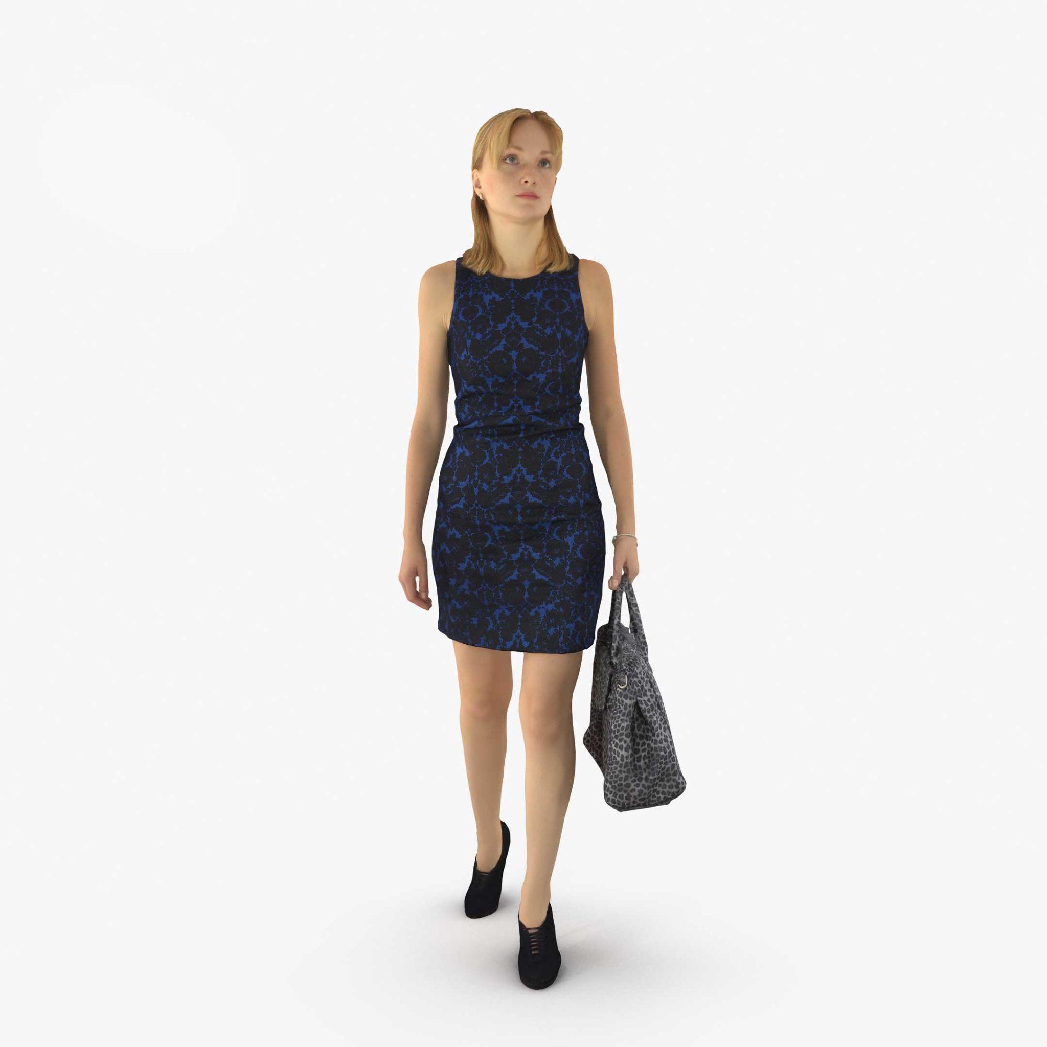 Business Woman Walking 3D Model | 3DTree Scanning Studio
