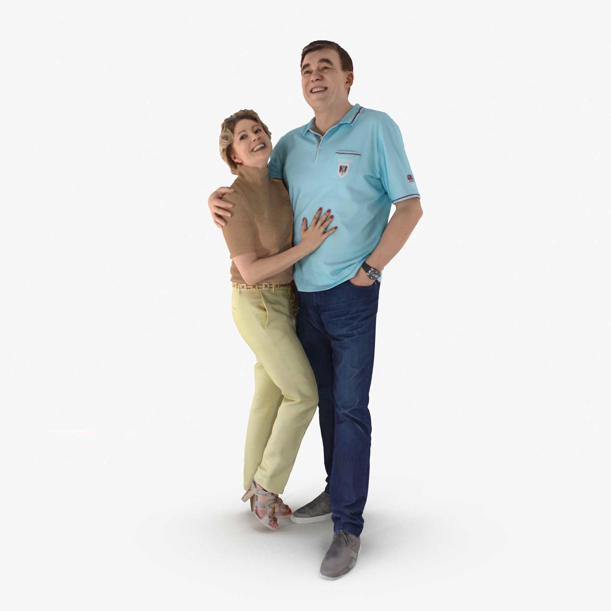 Couple Family 3D Model | 3DTree Scanning Studio