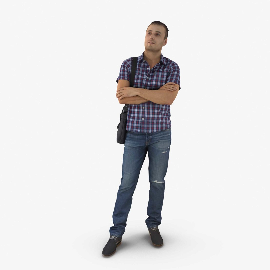 Casual Man Standing 3D Model | 3DTree Scanning Studio