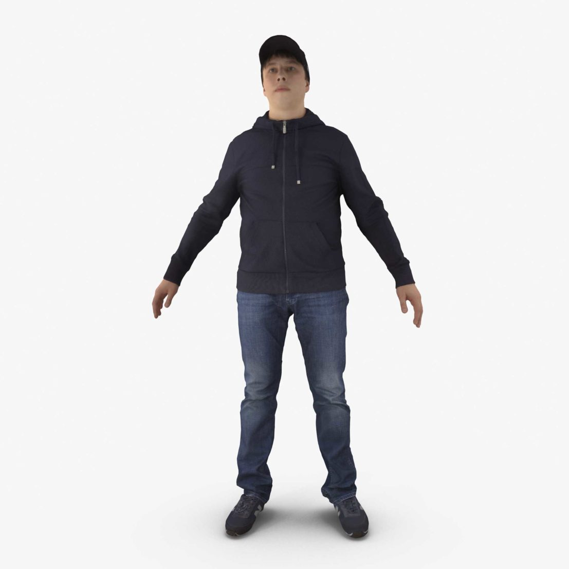 Casual Human APose 3D Model   3DTree Scanning Studio