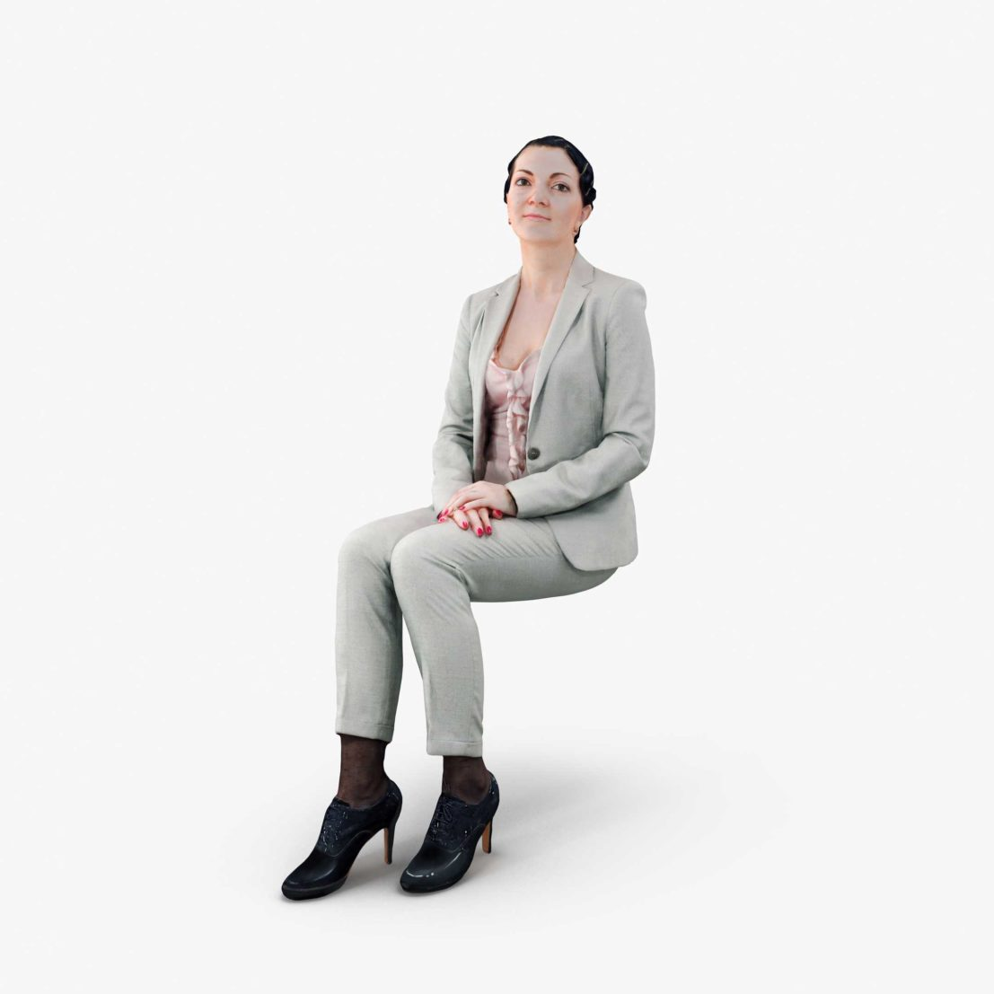 Casual Woman Sitting 3D Model | 3DTree Scanning Studio