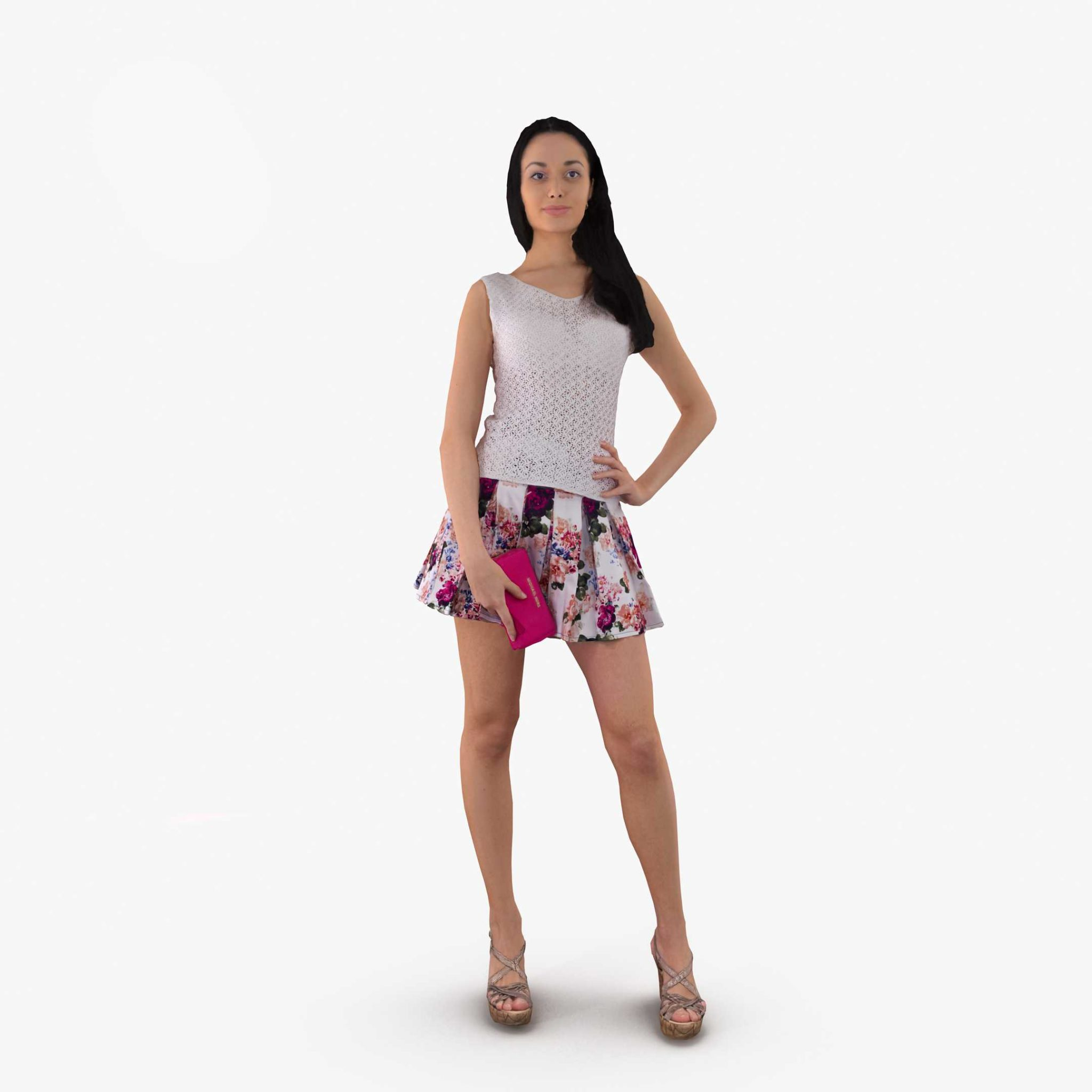 Woman Posed 3D Model | 3DTree Scanning Studio