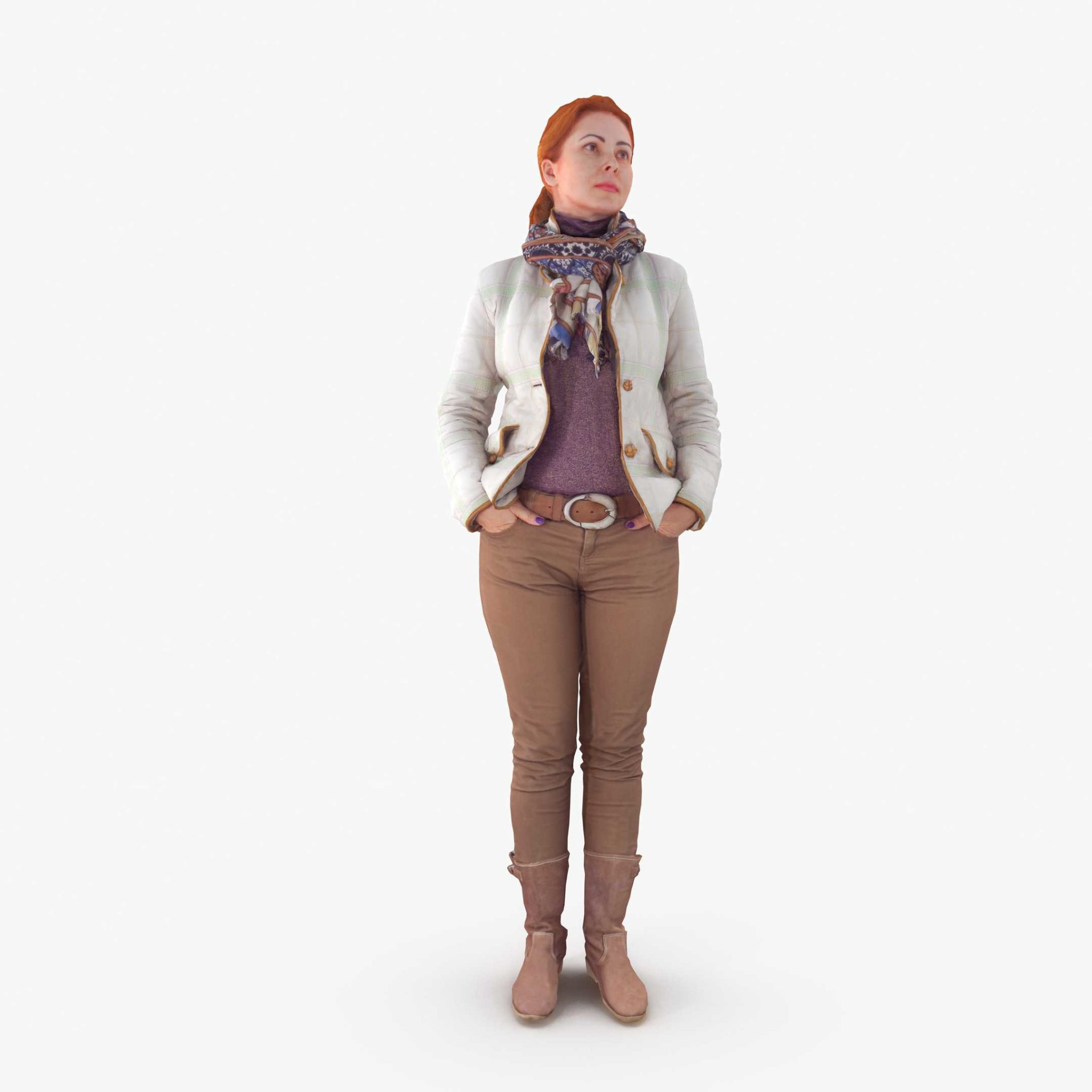 Woman Standing 3D Model | 3DTree Scanning Studio