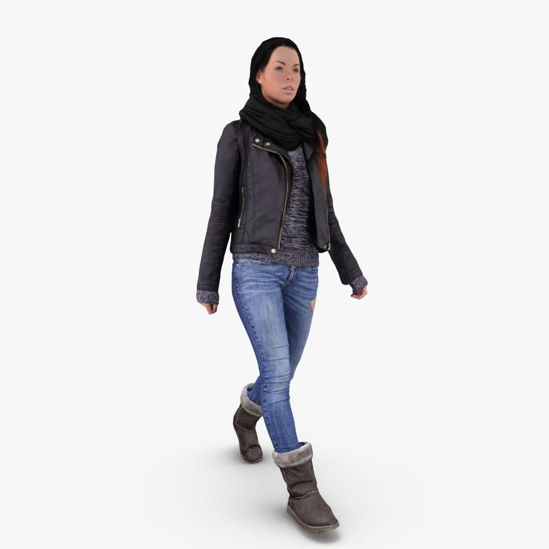 Casual Woman Winter Dress 3D Model | 3DTree Scanning Studio