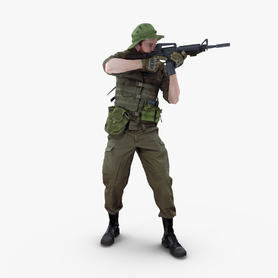 Soldier Standing 3D Model | 3DTree Scanning Studio