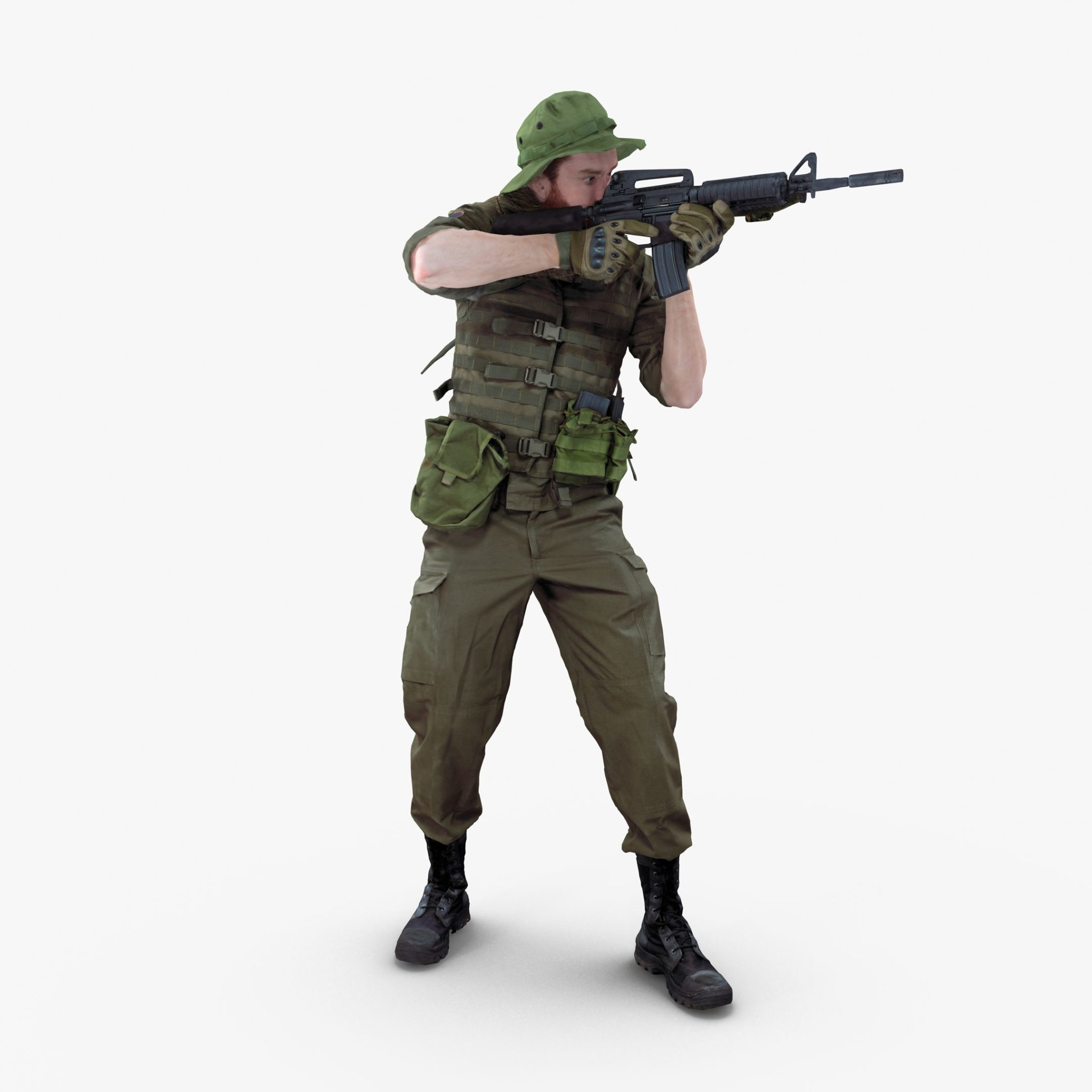 Soldier Standing 3D Model | 3DTree Scanning Studio