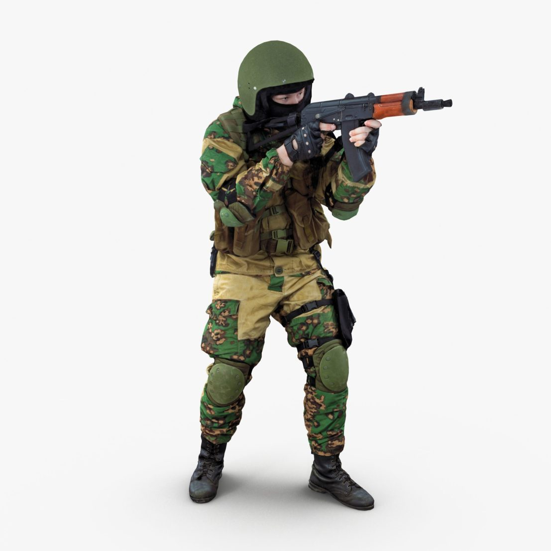 Soldier Aim 3D Model | 3DTree Scanning Studio