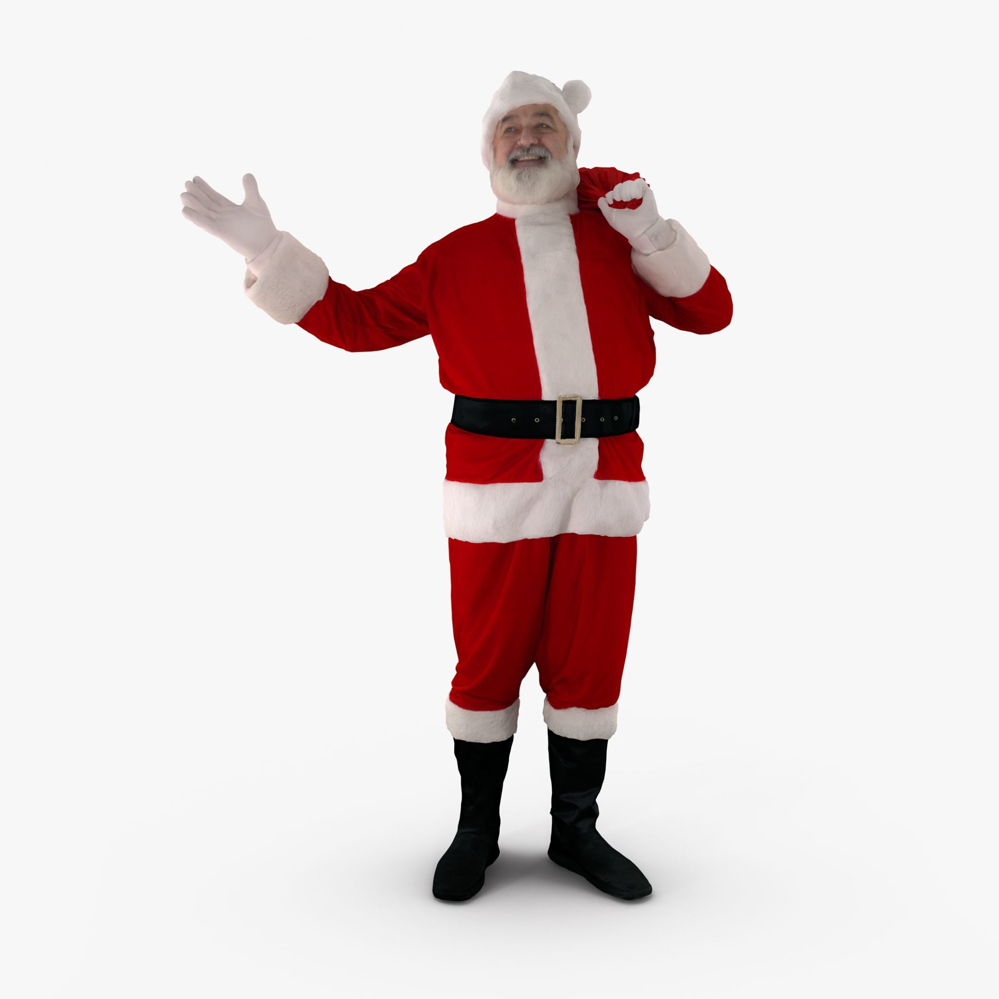 Happy Santa 3D Model | 3DTree Scanning Studio