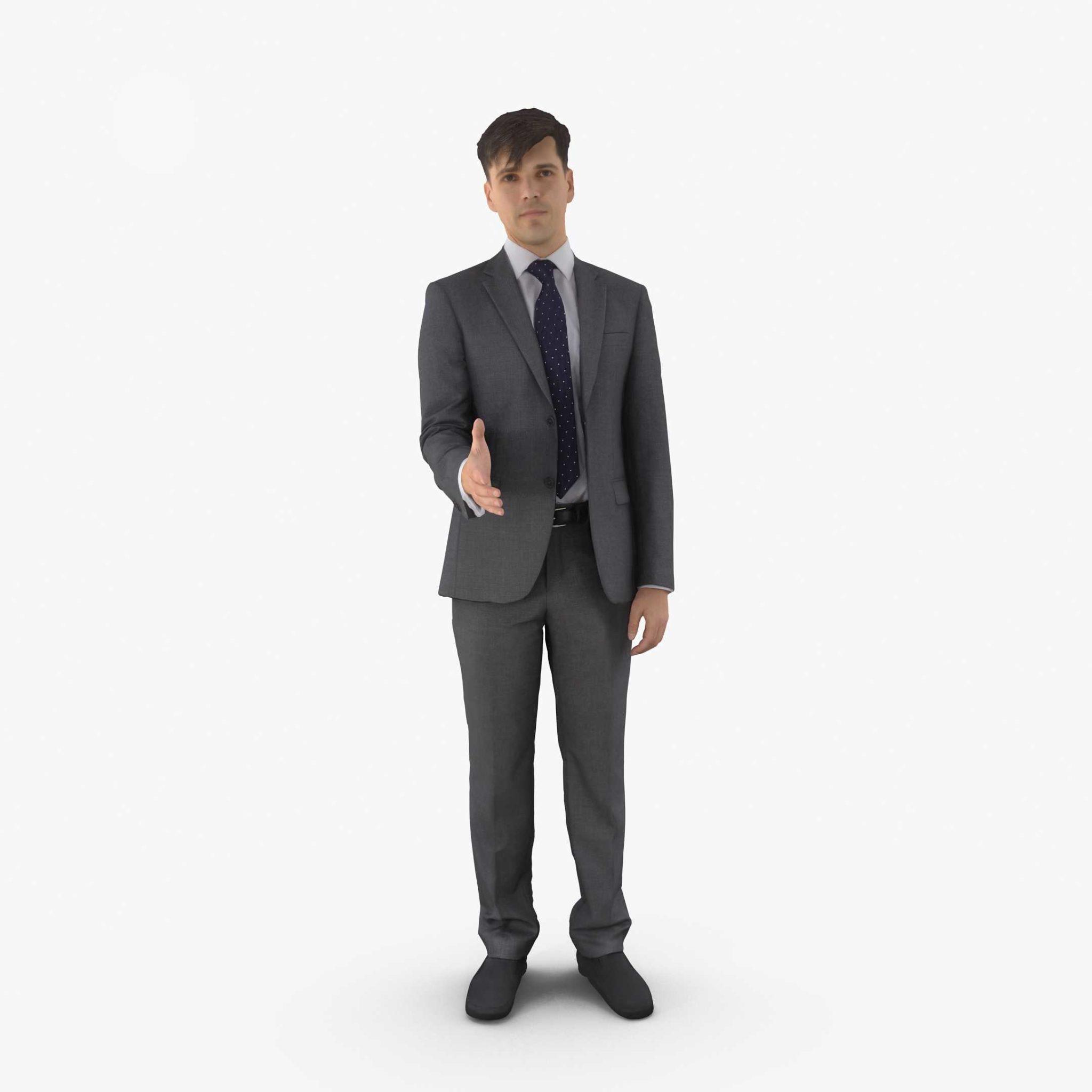 Businessman Greeting 3D Model | 3DTree Scanning Studio