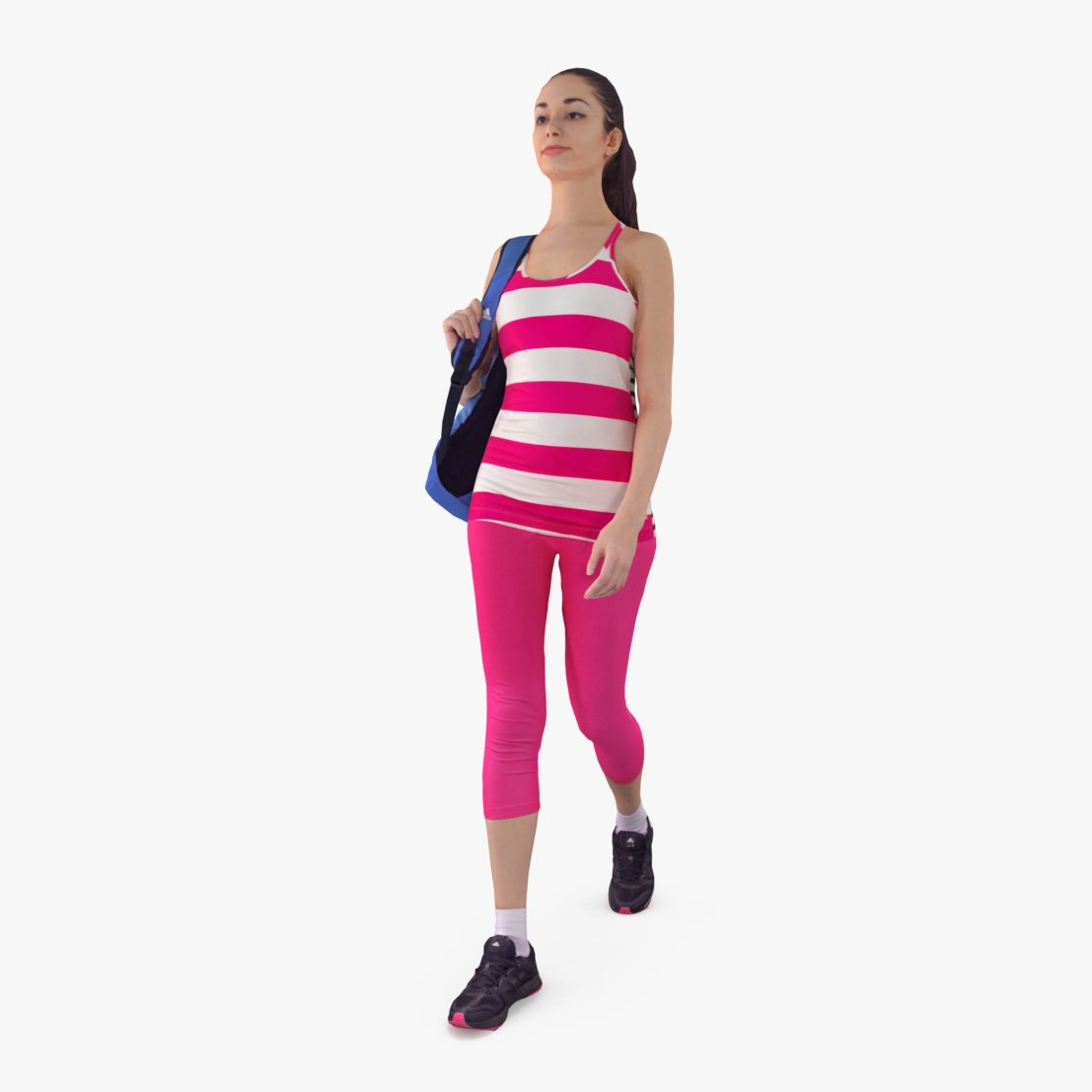 Fit Girl Walking 3D Model | 3DTree Scanning Studio