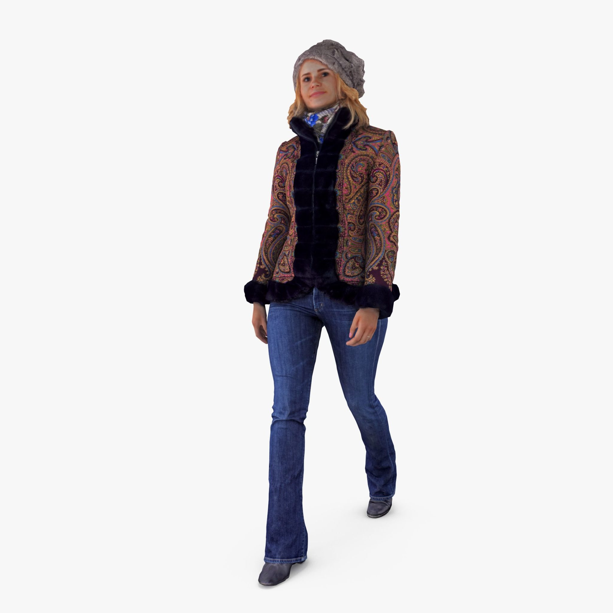 Fancy Woman Walking 3D Model | 3DTree Scanning Studio