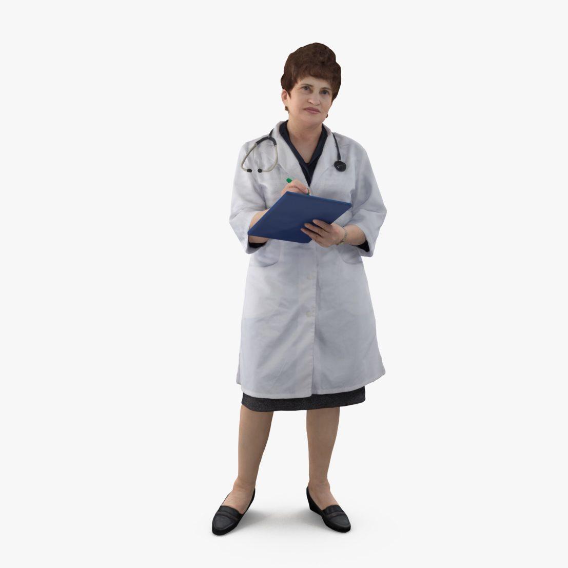 Medical Female Standing 3D Model   3DTree Scanning Studio