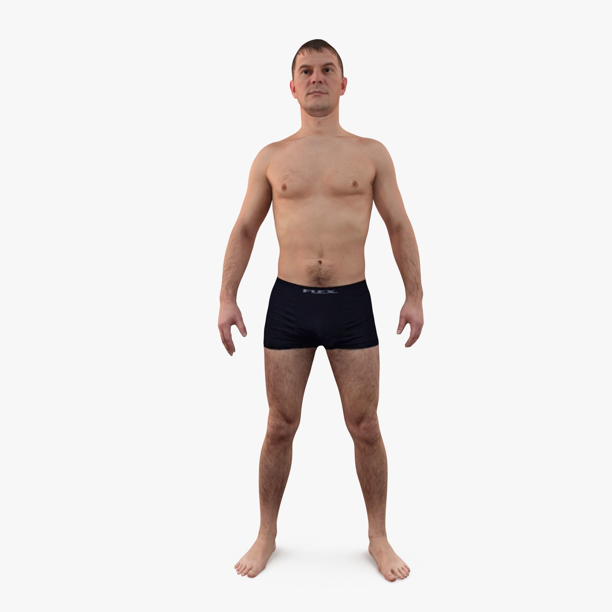 Topless Man Apose 3D Model | 3DTree Scanning Studio