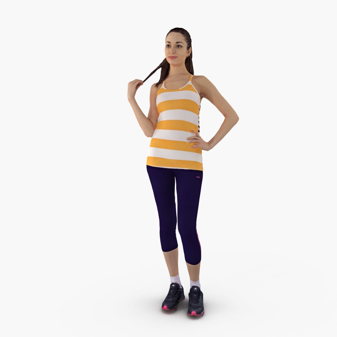 Sports Lady Standing 3D Model | 3DTree Scanning Studio