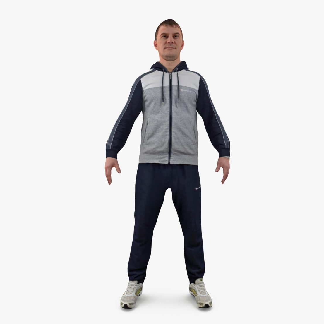 Sportsman Apose 3D Model | 3DTree Scanning Studio