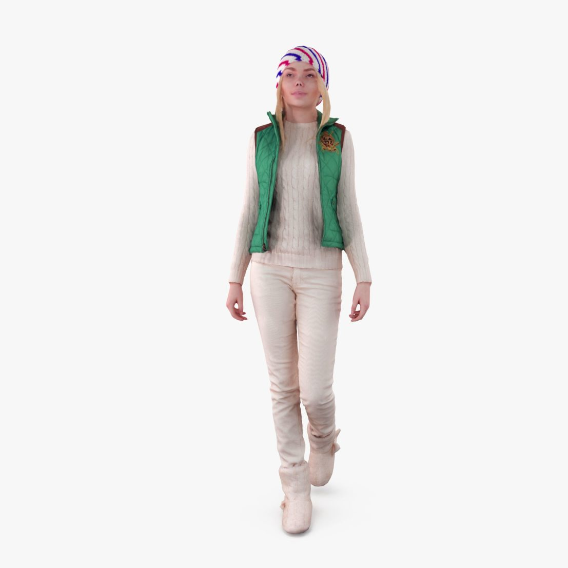 Young City Girl 3D Model | 3DTree Scanning Studio