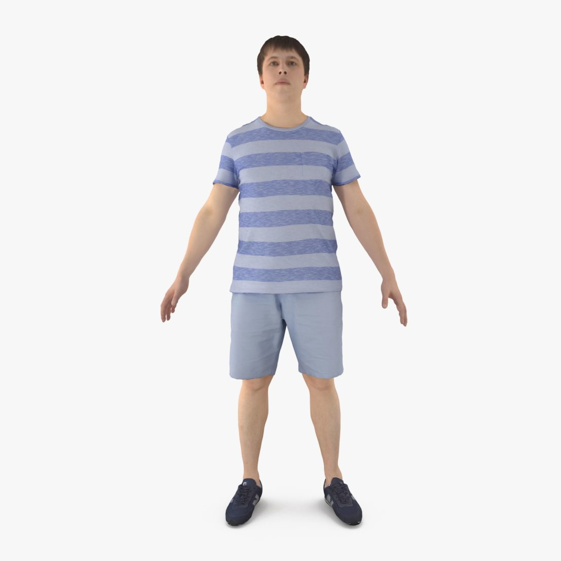 Casual Man Apose 3D Model | 3DTree Scanning Studio