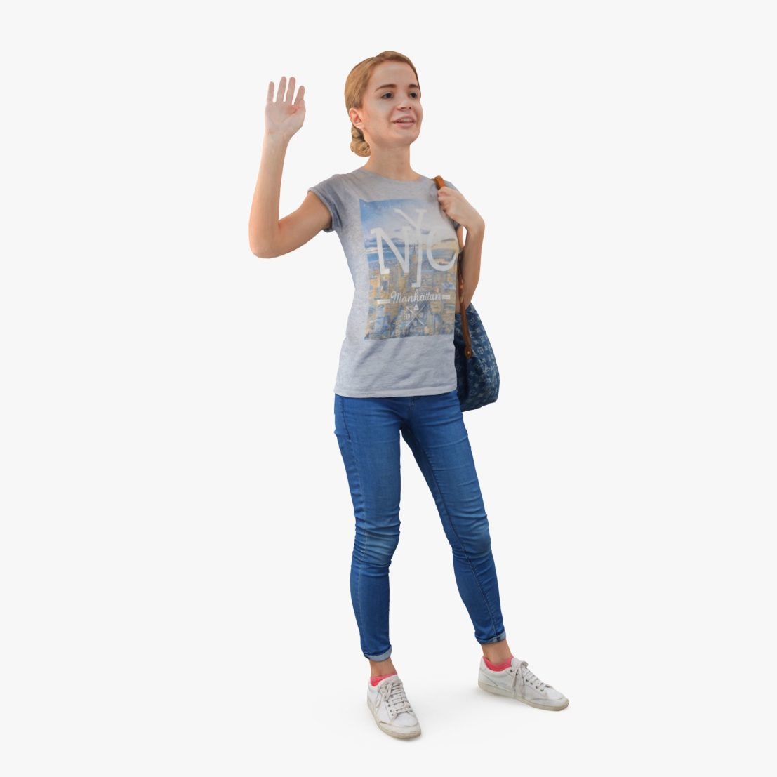 Casual Lady Greeting 3D Model | 3DTree Scanning Studio