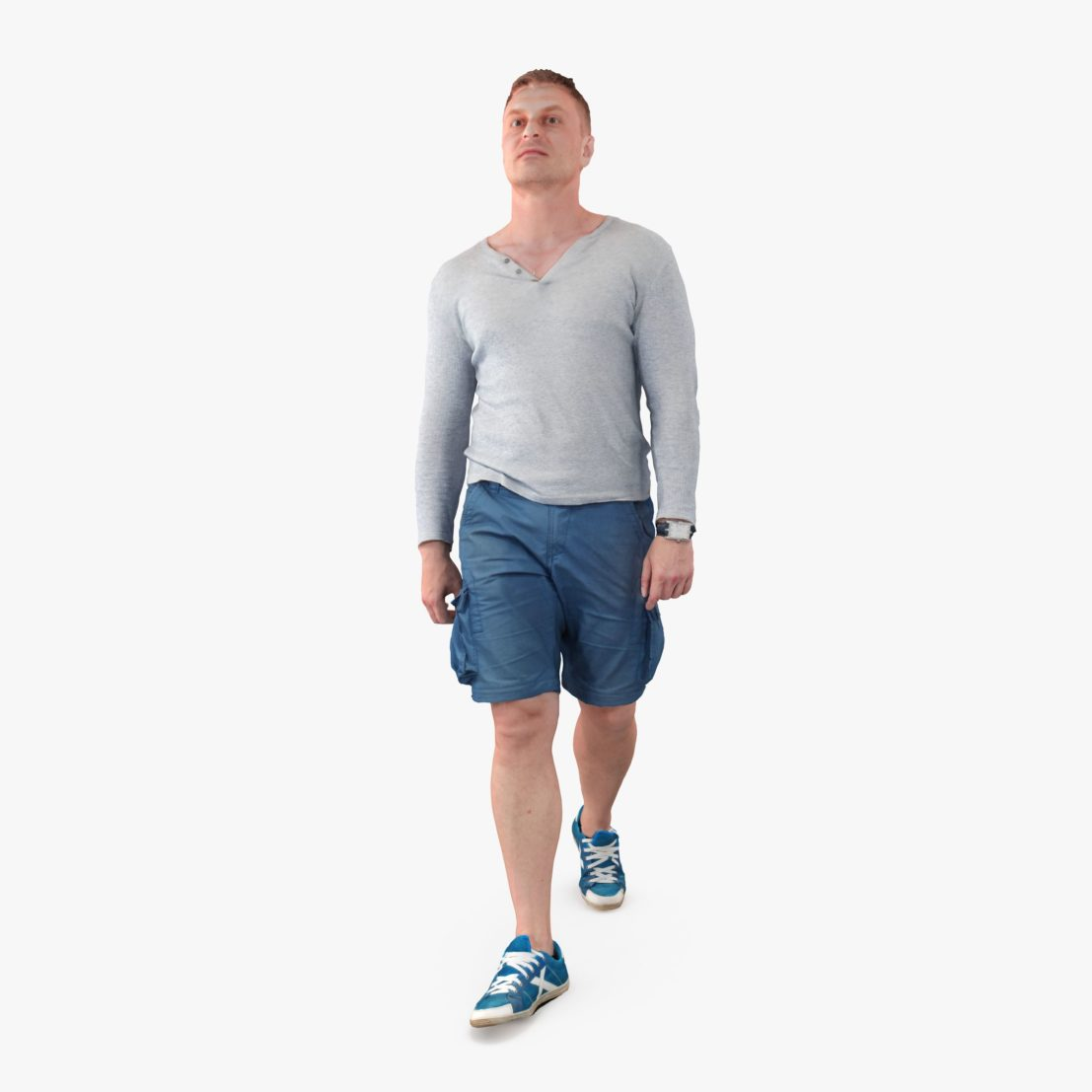 Casual Male Strolling 3D Model | 3DTree Scanning Studio