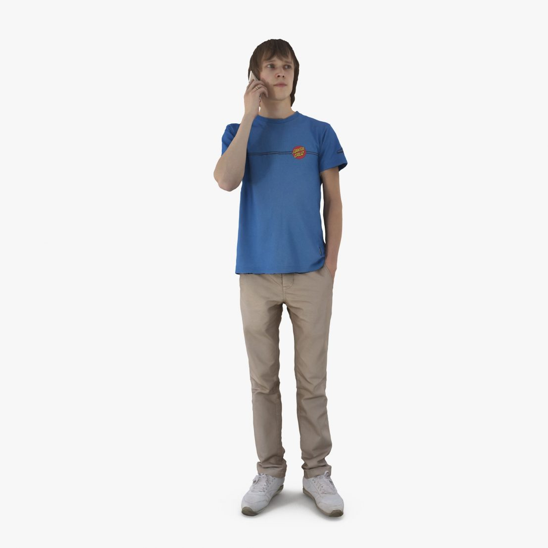 Boy with Phone 3D Model | 3DTree Scanning Studio