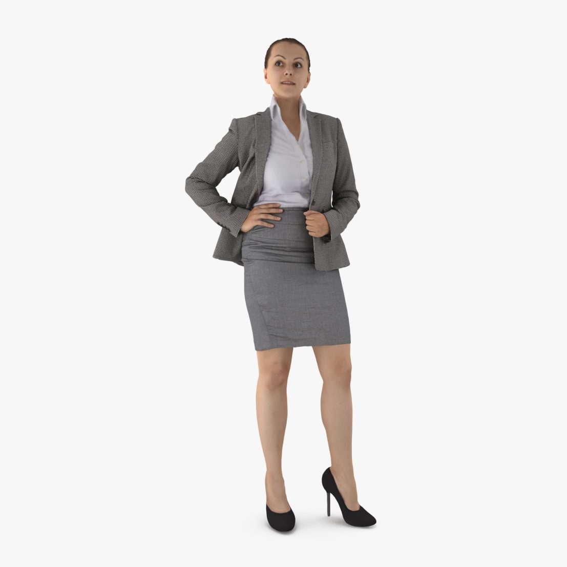 Business Lady Attending 3D Model | 3DTree Scanning Studio