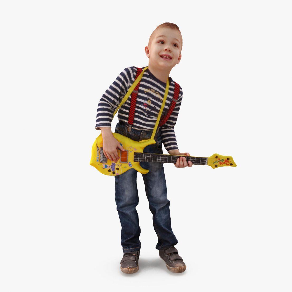 Guitar Boy 3D Model | 3DTree Scanning Studio