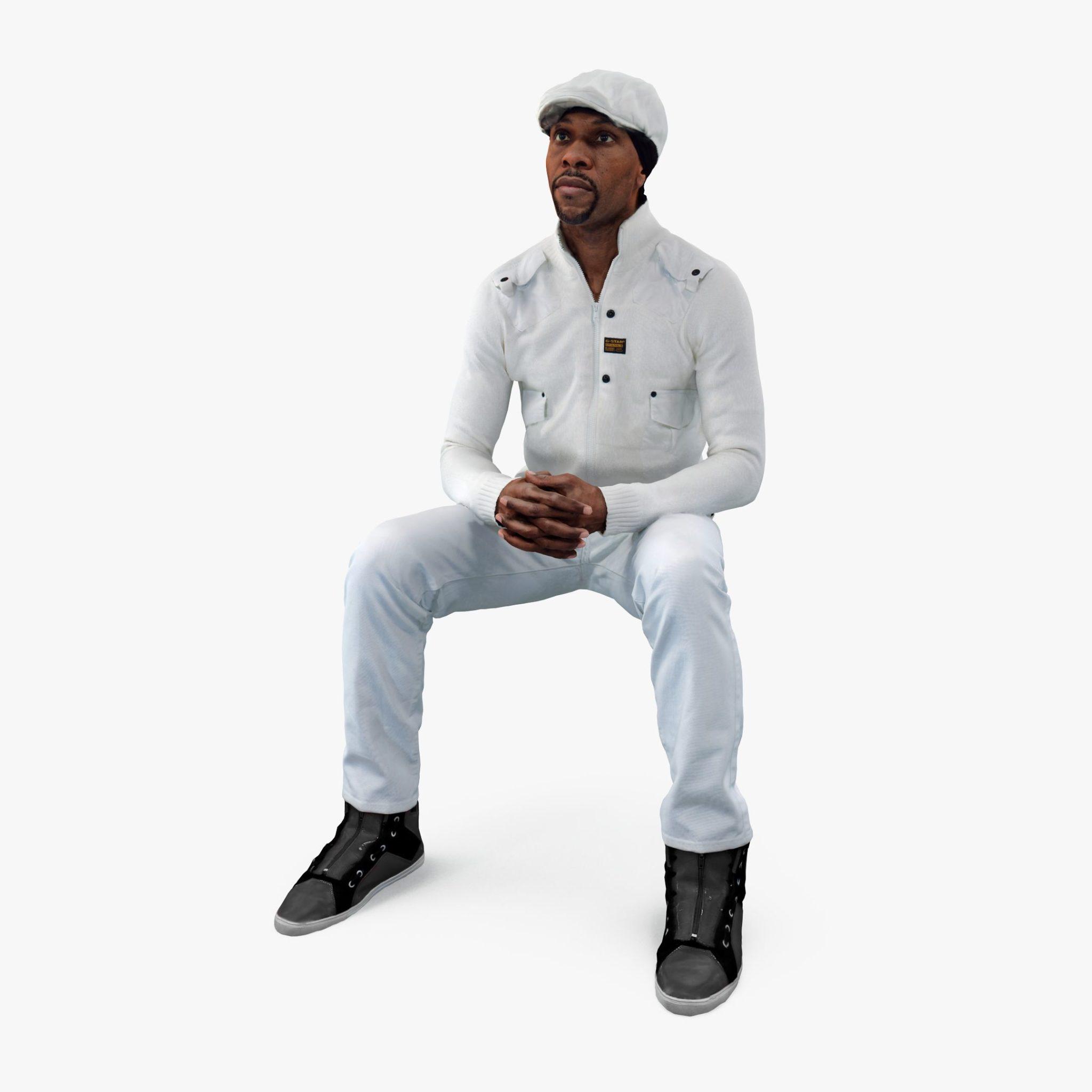 Casual Man Listening 3D Model | 3DTree Scanning Studio