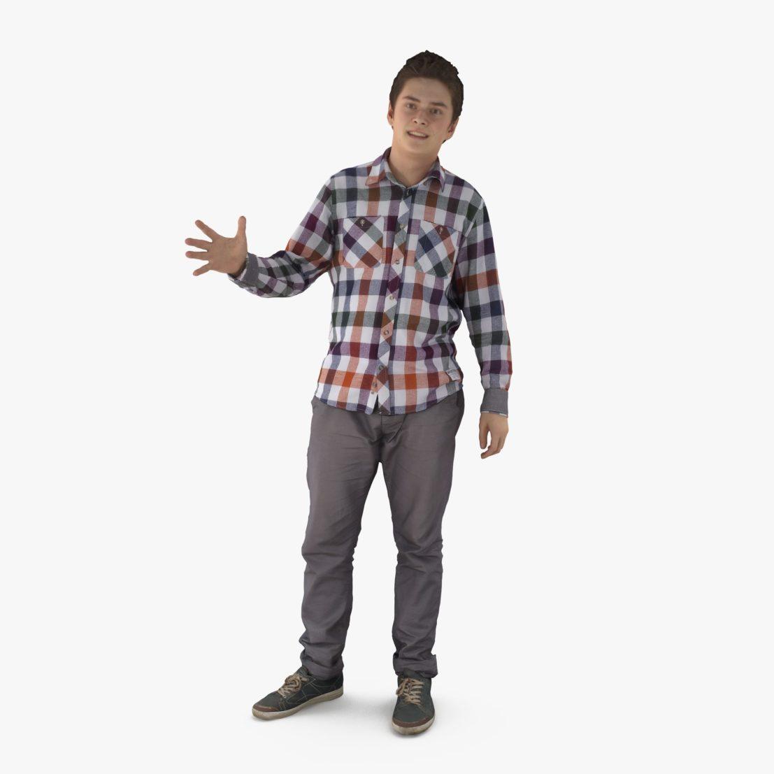 Guy Telling 3D Model | 3DTree Scanning Studio