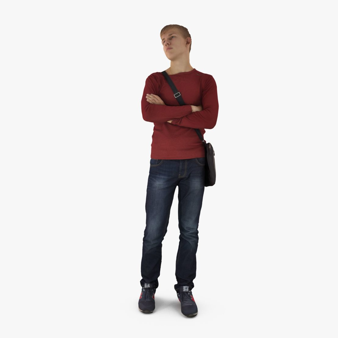 Young Man Waiting 3D Model | 3DTree Scanning Studio