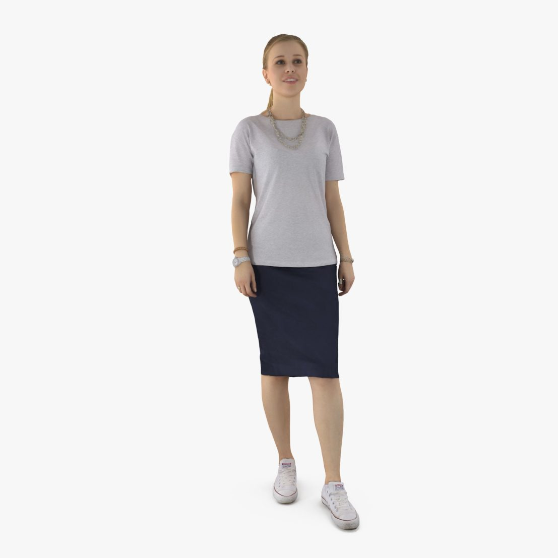 Casual Girl Smiling 3D Model | 3DTree Scanning Studio