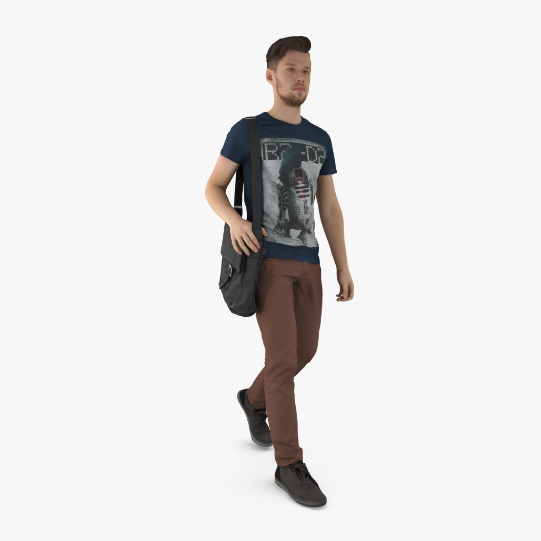 Casual Man Stepping 3D Model | 3DTree Scanning Studio