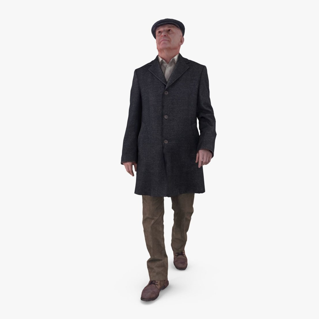 City Oldman 3D Model | 3DTree Scanning Studio