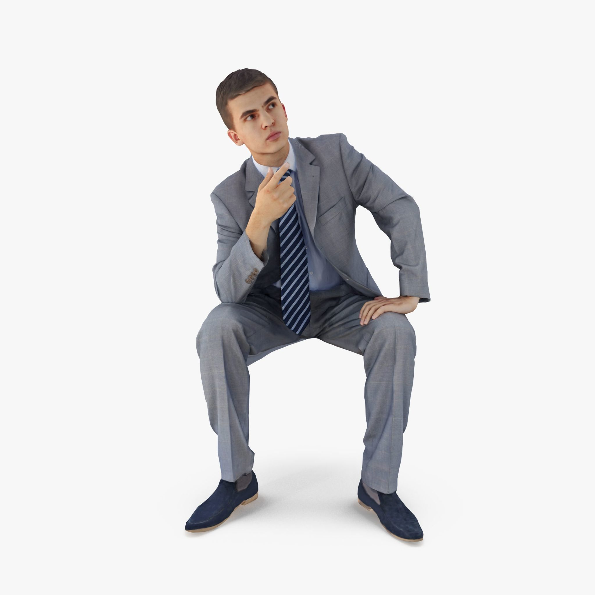 Manager Sitting 3D Model | 3DTree Scanning Studio