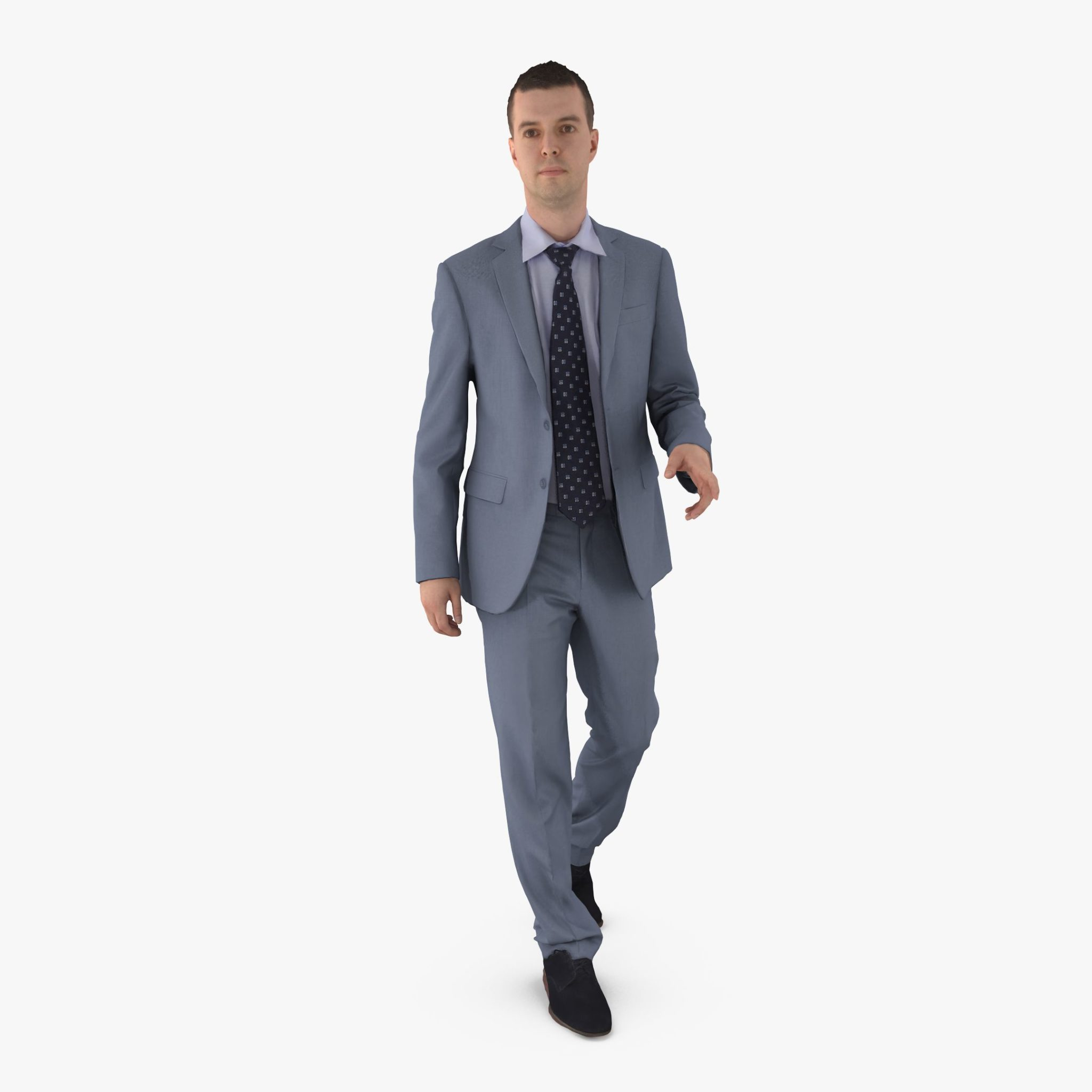 Businessman Stepping 3D Model | 3DTree Scanning Studio