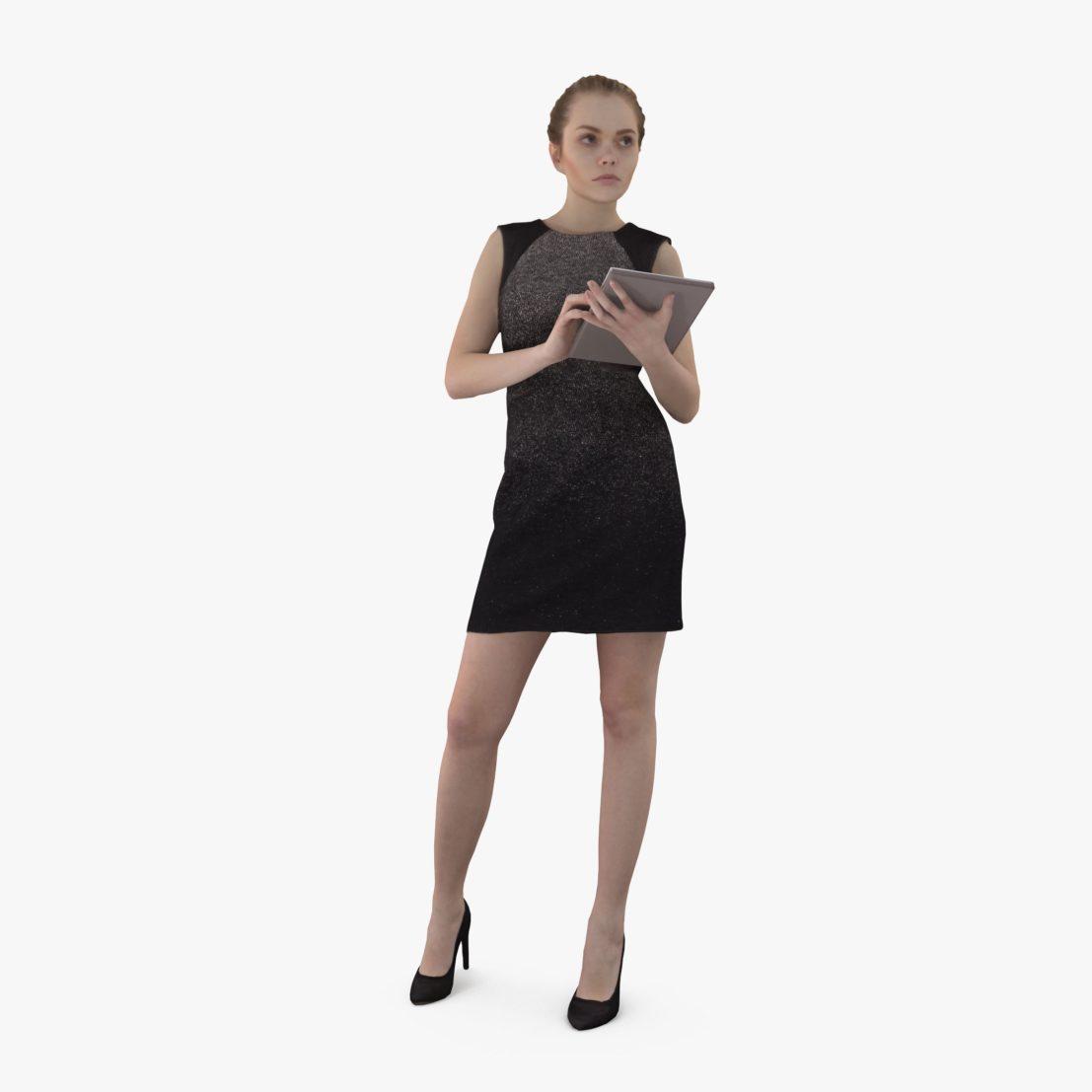 Nice Woman Work 3D Model | 3DTree Scanning Studio